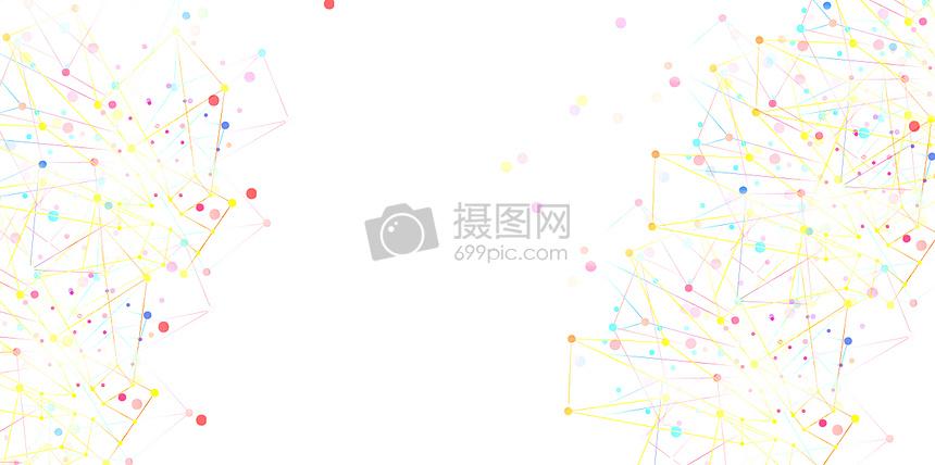 彩色线条圆点清新背景图片