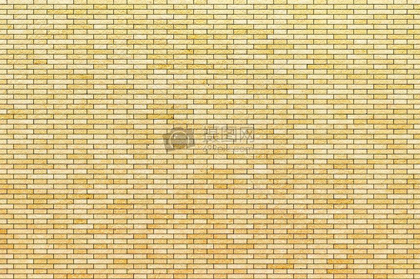 金色砖墙纹理背景素材图片