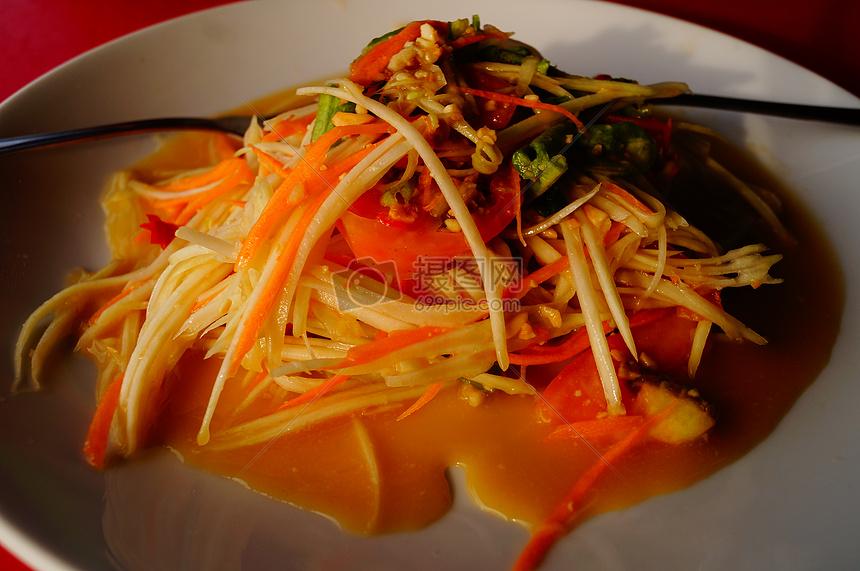青木瓜沙拉图片