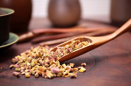 铁皮石斛茶叶泡茶图片