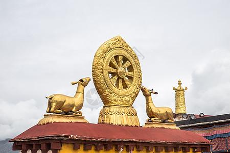西藏拉萨大昭寺风光图片