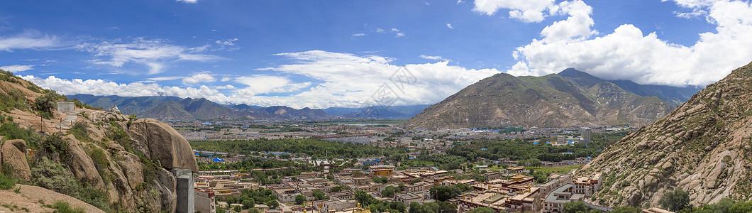 西藏拉萨市全景图片