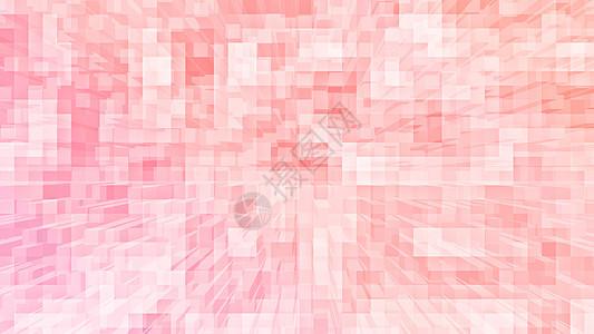 粉色立体方块多层次背景图片