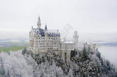 德国新天鹅堡冬景图片