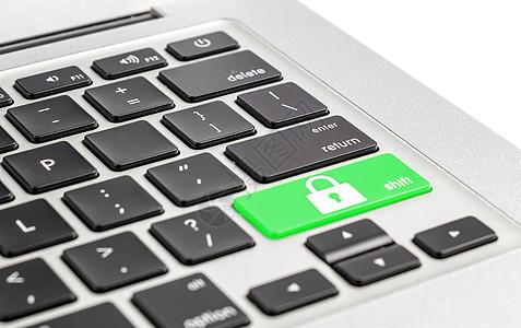 键盘上的密码锁图片