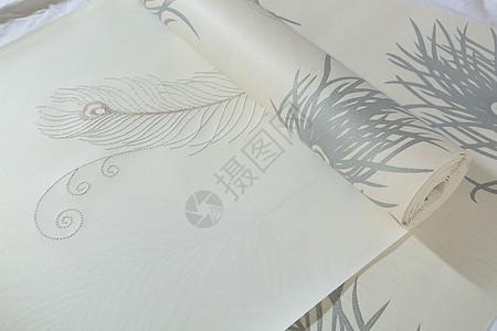 整卷仿鹿皮刺绣立体高发泡珠光底墙纸图片