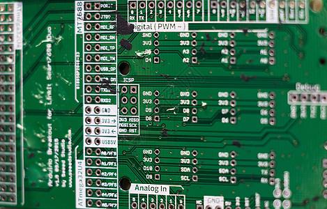 集成线路电路板特写高清图片