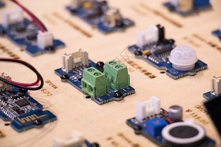 集成线路电路板特写图片