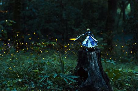 萤火虫夏夜美景图片