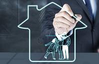 手绘家庭保障服务图片