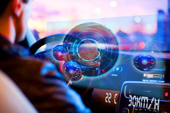 现代科技电子开车图片