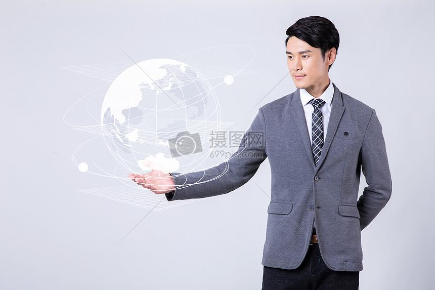 商务科技与地球图片