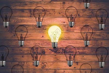 发光的灯泡图片