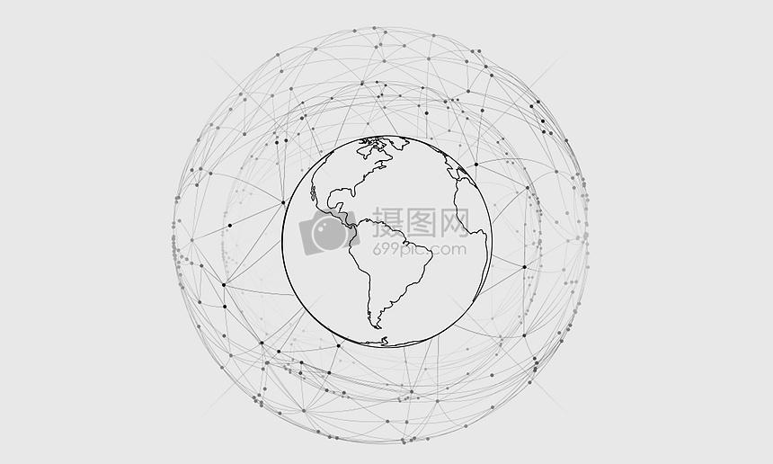 地球线条图片
