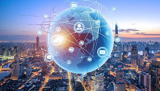 城市与世界地图图片