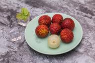 新鲜水果荔枝果肉微距 小暑图片