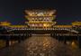湖南常德柳叶湖司马楼夜景图片