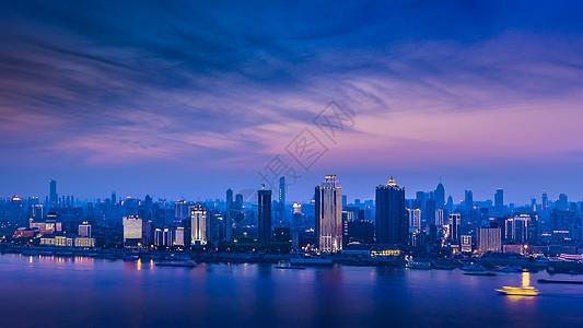 湖北武汉长江晚霞图片