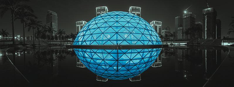 蓝色科技图片