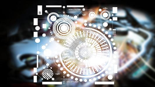 抽象机械科技图图片