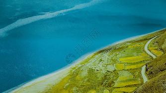 西藏羊湖蓝宝石色调图片
