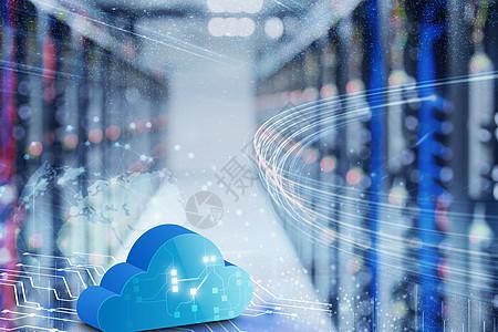 数据云端概念图图片