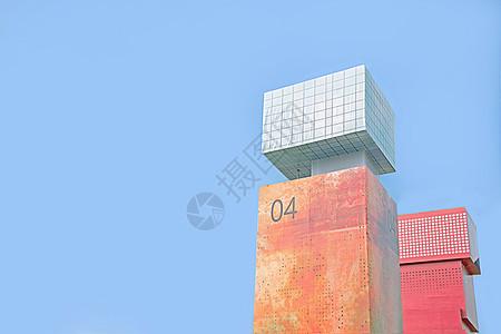 小清新的建筑背景图图片