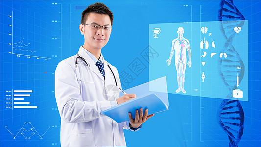 记录人体器官情况的医生图片