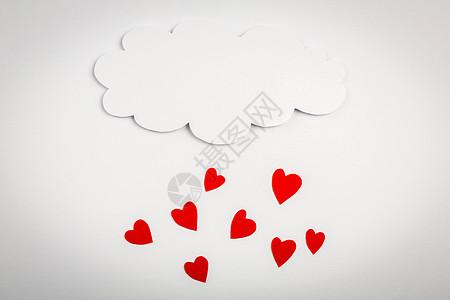 情人节爱心雨图片