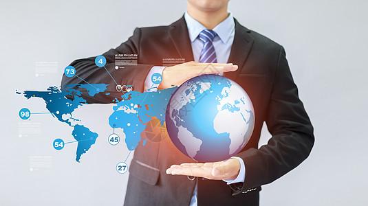 商务科技手托地球图片