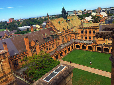 俯瞰悉尼大学的一角感受美好的校园生活图片