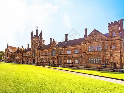 书香气十足的悉尼大学教学楼图片
