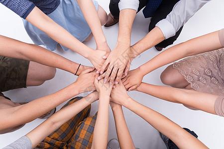 企业团队激励握手图片