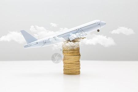 金币上的模型飞机图片