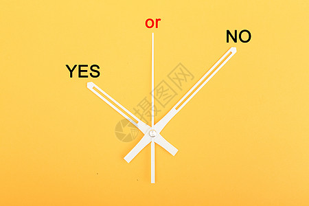 钟表指针yes or no图片