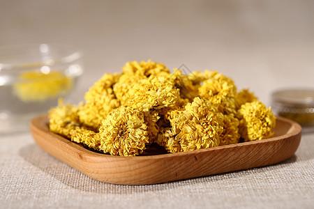 纯净黄色干菊花图片