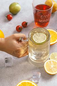 冰爽柠檬冷饮图片