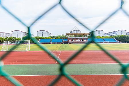 上海大学防护网操场图片