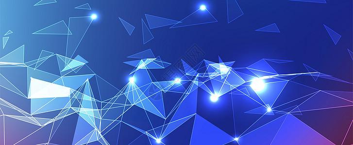 科技菱形背景图片