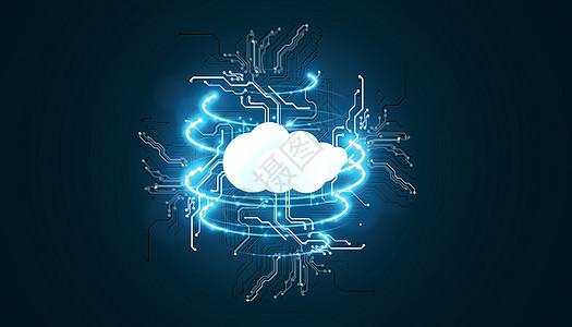 云下载科技蓝色炫酷背景图片