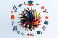 彩色画笔教育启蒙图片