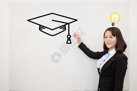 拥有知识的女教师图片