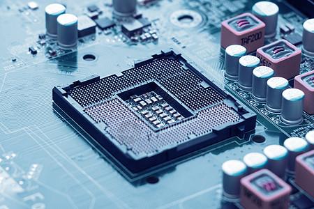 芯片电子电路板科技合成地图高清图片