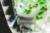 中国风风铃古建筑背景图片