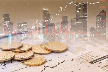 股市里的钱币图片