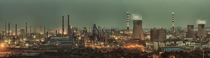 工业工厂烟囱图片