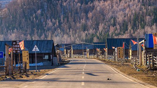 新疆小镇图片
