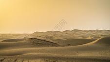沙尘暴下的塔克拉玛干大沙漠图片