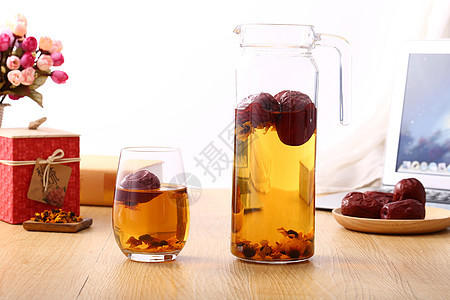 下午时间泡菊花茶图片