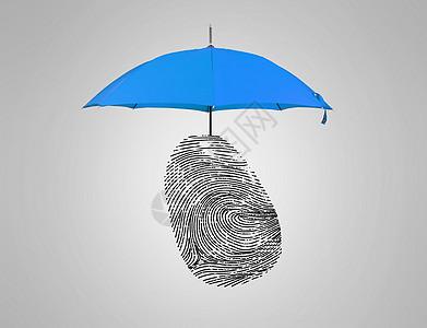 身份安全的保护伞创意图图片